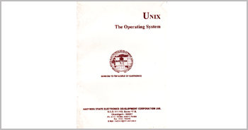 A book on UNIX Operating System by Munishwar Gulati written for HARTRON WORKSTATION